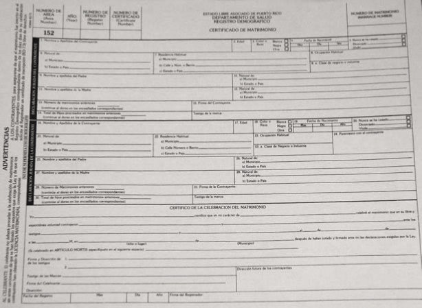 Documentos y requisitos para contraer matrimonio en puerto rico - Requisitos para casarse ...
